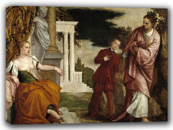 Veronese, (Paolo Caliari): A Young Man Between Vice and Virtue. Fine Art Canvas. Sizes: A4/A3/A2/A1 (002013)